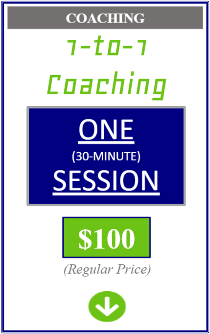 one to one coaching one thirty minute session