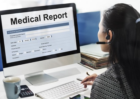 63081612 - medical record report healthcare document concept