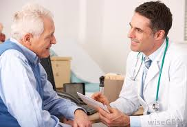 Doctor with white hair man