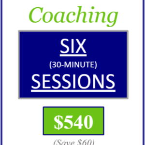 one to one coaching six thirty minute sessions