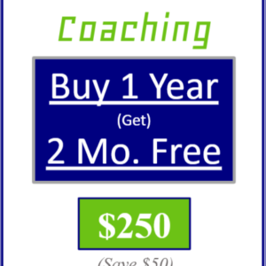 premier coaching buy one year get two months free